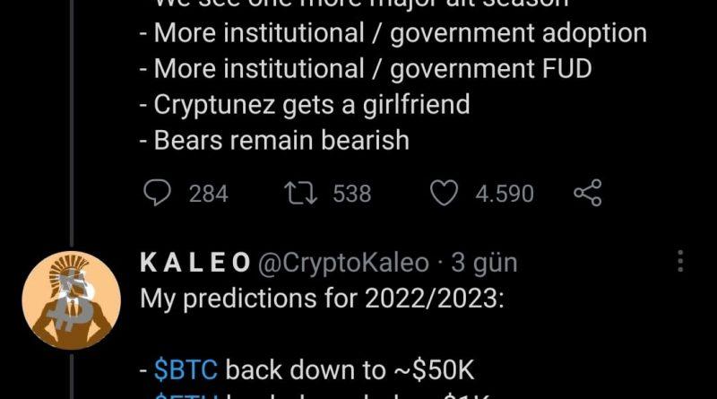 Kripto Analisti KALEO 2021'in İkinci Yarısında ETH'nin 10 Bin Doların Üzerinde Kırılacağını Tahmin Ediyor !